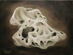Öl Bild Stein Kunst Malerei handgemalt auf Leinwand Original Jannys ART