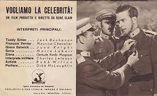 DEPLIANT PUBBLICITARIO CINEMA VOGLIAMO LA CELEBRITA' RENE' CLAIR 1939 3-341