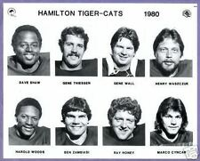 1980  CFL Hamilton Tigercats  Team Photo Set