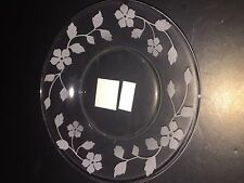 NEW Yankee Candle SANDBLASTED FLORAL Candle Plate RETIRED