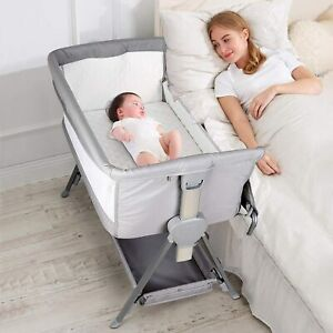 CRZDEAL Bassinet & Bedside Sleepers with Storage Basket P-800