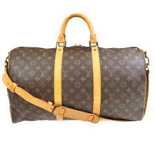 LOUIS VUITTON MONOGRAM KEEPALL 55 BANDOULIERE TRAVEL BAG M41414 ei 33599