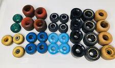 Vintage Lot of 33 Skateboard / Roller skate Wheels Sold As Is