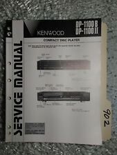 Kenwood dp-1100 b II service manual original repair book stereo cd 203 pages