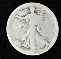1920 S - LIBERTY WALKING HALF DOLLAR - SILVER - ABOUT GOOD CONDITION
