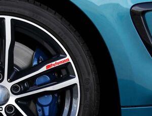 M PERFORMANCE Car VINYL (4 x STICKERS) Alloy Wheel GRAPHICS JDM DECALS