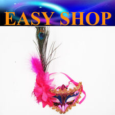 Lady Womens Red Feather Mask Costume Masquerade Cosplay Party Venetian Ball Eye