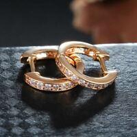 0.50Ct Round Cut VVS1/D Diamond Huggie Hoop Earrings 14K Yellow Gold Finish