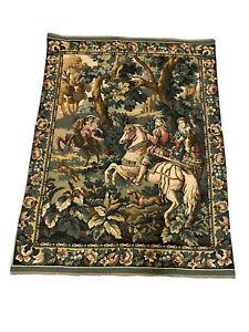 "Belgium Ter Waes ""Hawking with Emperor Maximilian"" 100% Wool Tapestry 61""x46"""