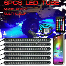 6 Tube RGB Neon LED Rock Light Kit Truck Underglow for Dodge Ram 1500 2500 3500
