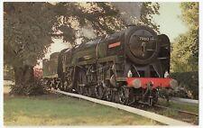 Britannia Class Loco 70013 Oliver Cromwell, Bressingham Steam Museum PPC, 1970's