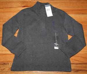 NEW NWT Polo Ralph Lauren Boys Half Zip Heather Grey Pullover Sweater *2T