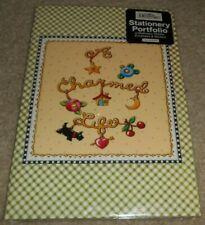 2004 Mary Engelbreit Stationary Portfolio w/Stationary Sheets +Envelopes Sticker