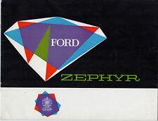 Ford Zephyr Mk2 1961 UK Market Sales Brochure Saloon Convertible