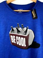 Cremieux Premium DenIm Brand Mens XL BE COOL Short Sleeve Graphic T-Shirt Blue