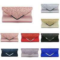Women Ladies Glitter Clutch Bag Evening Wedding Party Prom Handbag Purse Fashion