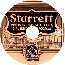 Starrett Antique Precision Tools Catalog { mechanic ~ Machine Shop } on DVD