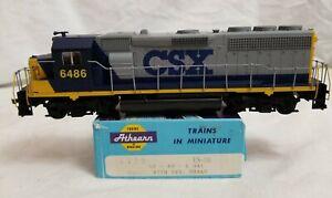 CUSTOM ATHEARN HO BLUE BOX CSX GP40-2 #6486 DUMMY UNIT in BLUE CAB CSX-bc SCHEME
