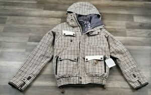 CAPP3L Ride Snowboards Houndstooth Thinsulate Ski Jacket Small
