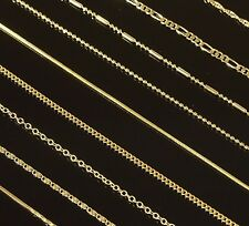 """Gold Filled 18"""" 22"""" 26"""" Mens Chain Womens Necklace (14 Styles to Choose From)"""