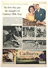 CADBURY'S MILK TRAY - Vintage Magazine Advert (20 Mar 1954) Chocolate, Food *