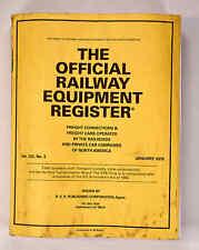 Official Railway Equipment Register January 2018 Railroad, Rail, Train
