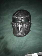 Airsoft Paintball Mask Full Face Skull Skeleton Metal Mesh Eye Game Safety Guard