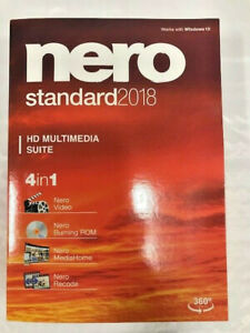 Nero Standard 2018 PC Windows 7/8/10 NEW!