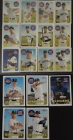 2018 Topps Heritage Seattle Mariners Base Team Set of 17 Baseball Cards