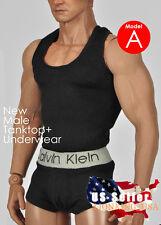 1/6 Men Tank Top Underwear Set A For Phicen M30 M31 M32 Male Figure Body ❶USA❶