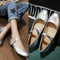 women casual patent leather sweet Mary Jane pure colors ankle strap pumps shoes