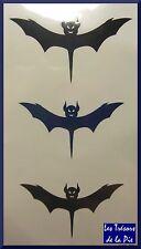 TATOUAGES TEMPORAIRES TATOO (x3) - Body art - Motif diable - Noir & bleu