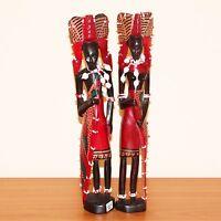 "Wood Carved Turkana Couple 12"""