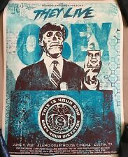 They Live Movie Poster Mondo Obey Art Shepard Fairey Roddy Piper John Carpenter