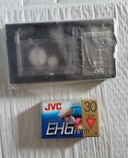 JVC C-P8U Cassette Adapter & JVC Compact VHS EHG Hi-Fi Blank Tape FREE SHIPPING!