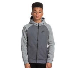 Junior Nike Sportswear Air Hybrid Dark Grey Hooded Top (NAH1) RRP £49.99