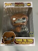 FUNKO POP! MARVEL #665 ZOMBIE THE THING 10 INCH w/*OFFICIAL* 2020 SDCC STICKER