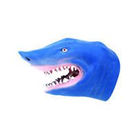 1Pc Funny Cartoon Shark Animal Hand Puppet Figure Toy Stories Telling Supplies~