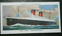 RMS MAURETANIA  Cunard White Star Liner  Original 1938 Vintage Card