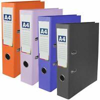 A4 Coloured Paper Lever Arch File Planner Document Paper Organiser Holder Filer