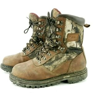 Cabela's Iron Ridge Camouflage Waterproof Leather Thinsulated Boots 6