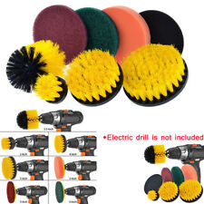 8 PC Drill Brush Pads Power Scrubber Cleaning Kit All Purpose Cleaner Pool