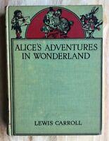 ALICE'S ALICE ADVENTURES IN WONDERLAND Lewis Carroll 1937 Color Plates MacMillan