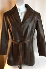 Wilson Vintage Leather Blazer Three Front Buttons Closure. Removable Lining SZ M