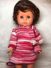 "15"" Gotz Puppe Limited Vinyl Doll Beautiful Brunette Little Girl Blue Eyes #Sa"