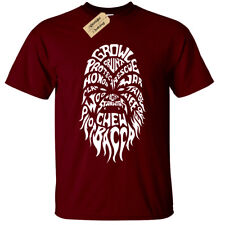 Chewbacca Wordcloud Mens T-Shirt S-5XL star inspired wars chewie gift
