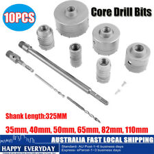 10PCS CORE DRILL SET 35MM & 40MM& 50MM& 65MM&82& 110MM EXTENSION W/ CARBIDE