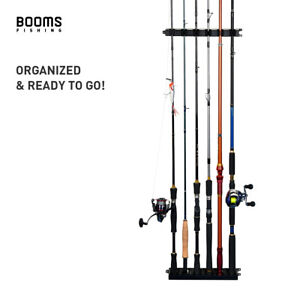 Booms Fishing WV2 Vertical 6-Rod Rack Fishing Pole Holder Wall Mount    A