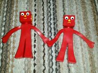 2003 gumby blockheads g and j prema toy co bendy figures
