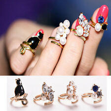 7 Stk Vintage Gold Kristall Stern Gemeinsame Fingerring Set Ringe Frauen s Heiß